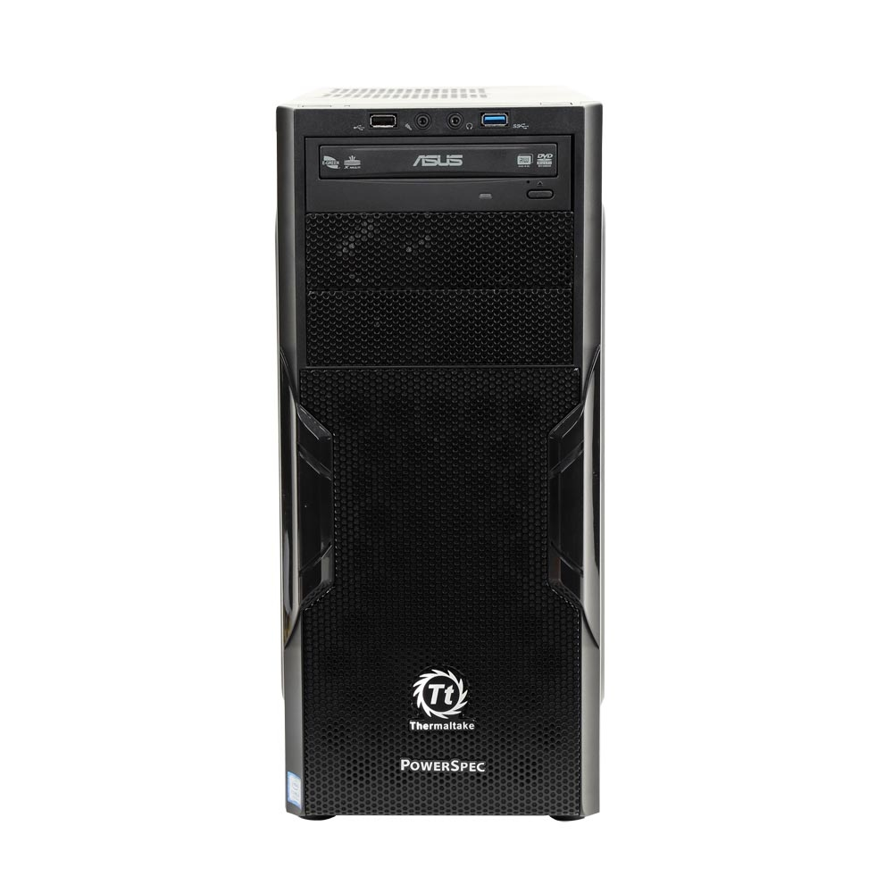 PowerSpec G221 Desktop with Intel Quad Core i5-7500 / 16GB / 1TB HDD & 250GB SSD / Win 10
