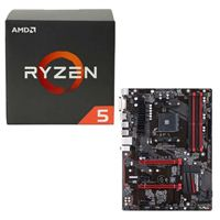 AMD Ryzen 5 1500X, Gigabyte GA-AB350-Gaming CPU/Motherboard Bundle