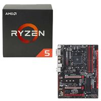 AMD Ryzen 5 1400, Gigabyte GA-AB350-Gaming 3 CPU/Motherboard Bundle