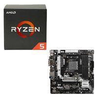 AMD Ryzen 5 1600, ASRock AB350M Pro4 CPU/Motherboard Bundle