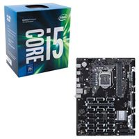 Intel Core i5-7500, ASUS B250 Mining Expert CPU/Motherboard Bundle