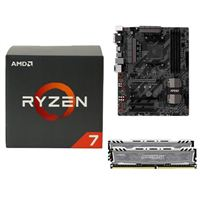 AMD Ryzen 1700X, MSI B350 Tomahawk, Crucial Ballistix 16GB RAM, Computer Build Bundle