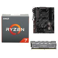 AMD Ryzen 1800X, MSI B350 Tomahawk, Crucial Ballistix 16GB RAM, Computer Build Bundle