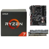 AMD Ryzen 1700X, MSI B350 Tomahawk, Crucial Ballistix 8GB RAM, Computer Build Bundle
