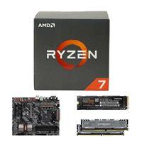 AMD Ryzen 1700X, MSI B350 Tomahawk, Crucial Ballistix 8GB RAM, Samsung 960 EVO 500GB M.2 SSD, Computer Build Bundle