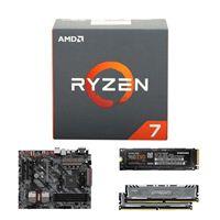 AMD Ryzen 1800X, MSI B350 Tomahawk, Crucial Ballistix 8GB RAM, Samsung 960 EVO 500GB M.2 SSD, Computer Build Bundle