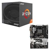AMD Ryzen 7 2700 with Wraith Spire Cooler, ASRock AB350...