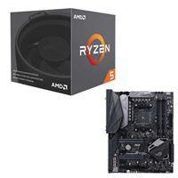 AMD Ryzen 5 2600 with Wraith Stealth Cooler, ASUS ROG Crosshair VI Hero CPU/Motherboard Bundle