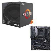AMD Ryzen 7 2700 with Wraith Spire Cooler, ASUS ROG Crosshair VI Hero CPU/Motherboard Bundle