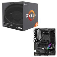 AMD Ryzen 5 2600X with Wraith Spire Cooler, ASUS ROG STRIX B350-F Gaming CPU/Motherboard Bundle