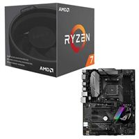 AMD Ryzen 7 2700 with Wraith Spire Cooler, ASUS ROG STRIX B350-F Gaming CPU/Motherboard Bundle