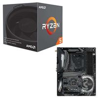 AMD Ryzen 5 2600 with Wraith Stealth Cooler, ASRock X470...