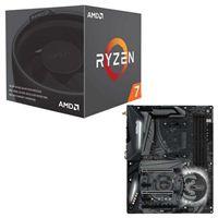 AMD Ryzen 7 2700 with Wraith Spire Cooler, ASRock X470 Taichi CPU/Motherboard Bundle