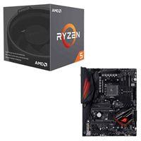 AMD Ryzen 5 2600X with Wraith Spire Cooler, ASUS Crosshair...