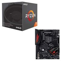 AMD Ryzen 7 2700 with Wraith Spire Cooler, ASUS Crosshair VII Hero X470 CPU/Motherboard Bundle
