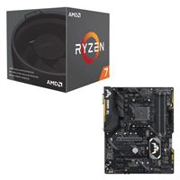 AMD Ryzen 7 2700 with Wraith Spire Cooler, ASUS TUF X470-Plus Gaming CPU/Motherboard Bundle