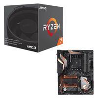 AMD Ryzen 7 2700 with Wraith Spire Cooler, Gigabyte X470 AORUS Gaming 5 CPU/Motherboard Bundle