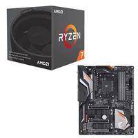AMD Ryzen 7 2700 with Wraith Spire Cooler, Gigabyte X470...
