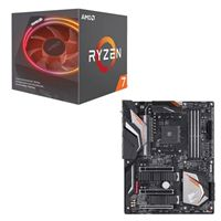 AMD Ryzen 7 2700X with Wraith Prism Cooler, Gigabyte X470...