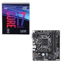 Intel Core i7-8700K, Gigabyte B360M DS3H, CPU/Motherboard...