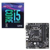 Intel Core i5-8600K, Gigabyte B360M DS3H, CPU/Motherboard...