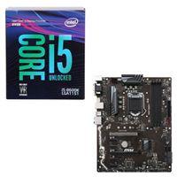 Intel Core i5-8600K, MSI Z370-A PRO, CPU/Motherboard Bundle