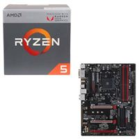 AMD Ryzen 5 2400G with Wraith Stealth Cooler, Gigabyte GA-AB350-Gaming 3, CPU/Motherboard Bundle