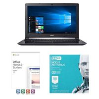 Acer Aspire 3 A315-53-52CF, Office 2019 Home and Student, 3 Year NOD32 Antivirus Bundle