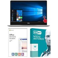 Dell Inspiron 13 7370 5937, Office 2019 Home and Student, 3 Year NOD32 Antivirus, Laptop Bundle