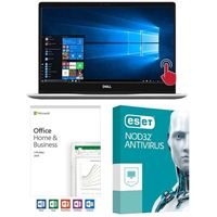 Dell Inspiron 13 7370 5937, Office 2019 Home and Business, 3 Year NOD32 Antivirus, Laptop Bundle