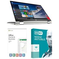 HP Pavilion x360 Convertible 15-cr0017nr, Office 2019 Home and Business, 3 Year NOD32 Antivirus, Laptop Bundle
