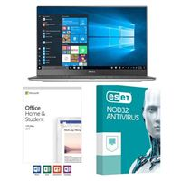 Dell XPS 13 9360 5142, Office 2019 Home and Student, 3 Year NOD32 Antivirus, Laptop Bundle